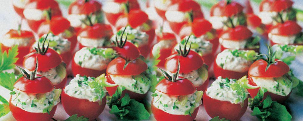 Ντοµατίνια γεµιστά µε τυριά και βότανα