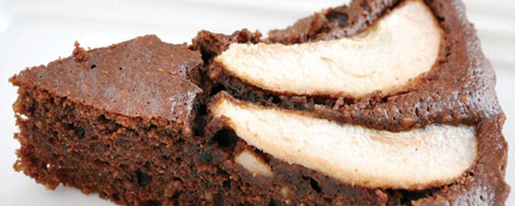 Τόρτε φουντούκι-σοκολάτα με αχλάδια (Χωρίς αλεύρι)