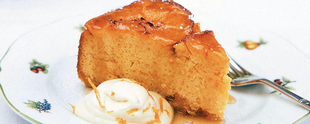 Ανάλαφρη torte πορτοκάλι με αμύγδαλα