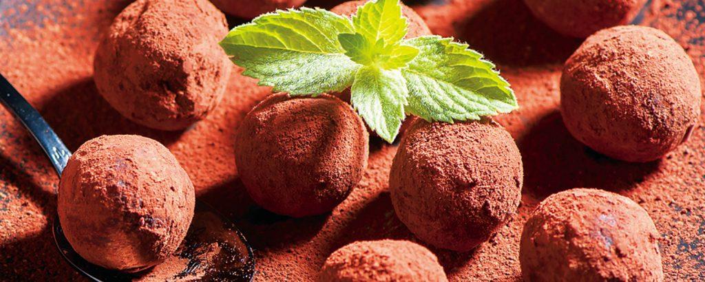 Τρούφες σοκολάτας με καρύδι