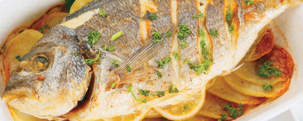 Τσιπούρα ή φαγκρί με πατάτες