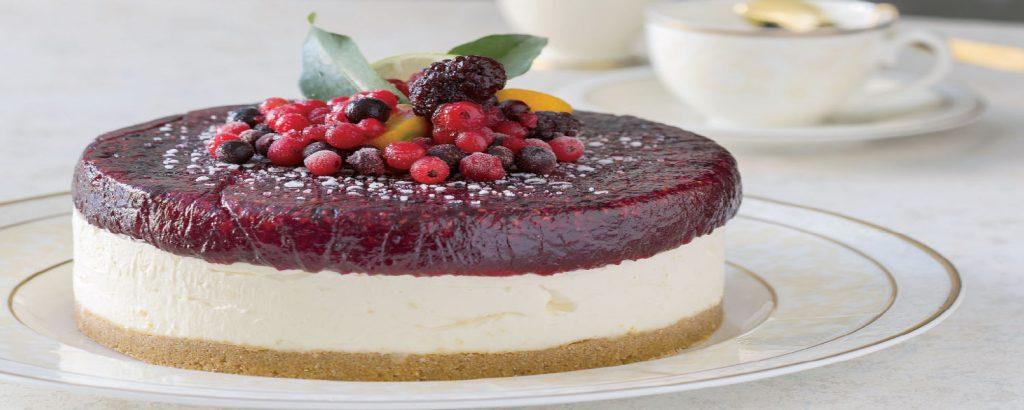 Cheesecake με limoncello και κόκκινα φρούτα