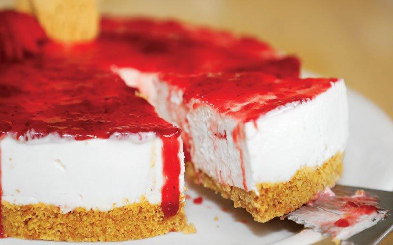 Απλό Cheesecake φράουλας
