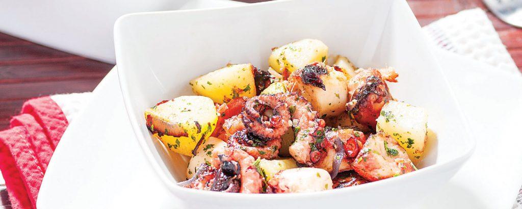 Χταπόδι με πατάτες