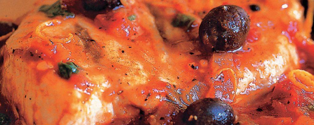 Ψάρι πλακί με ελιές